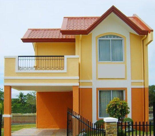 Fachadas modernas de dos pisos con cochera abierta for Colores para pintar una casa pequena por fuera
