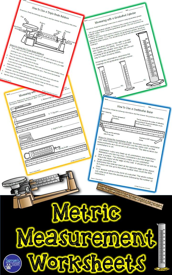 Metric Measurement Activity for Mass, Volume and Length