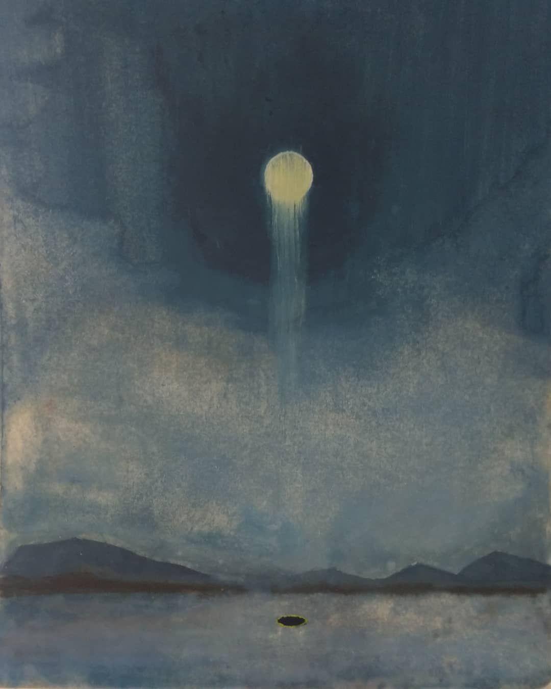 Small Moon portal painting