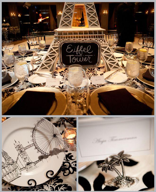 Paris Themed Wedding Reception Ideas: Tantalizing Travel Theme Wedding By Studio Capture