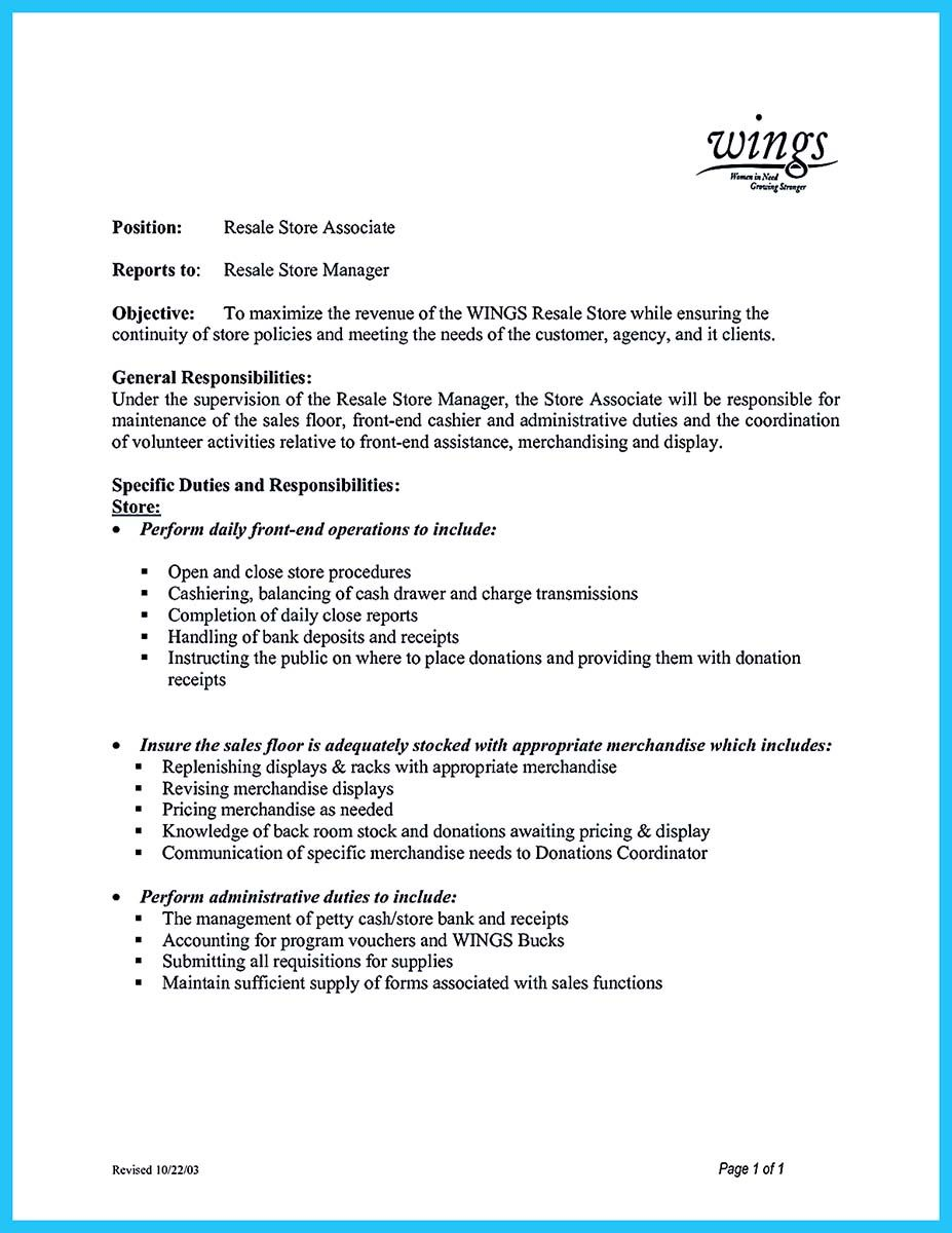 Assistant Store Manager Resume You Can Start Writing Assistant Store Manager Resume