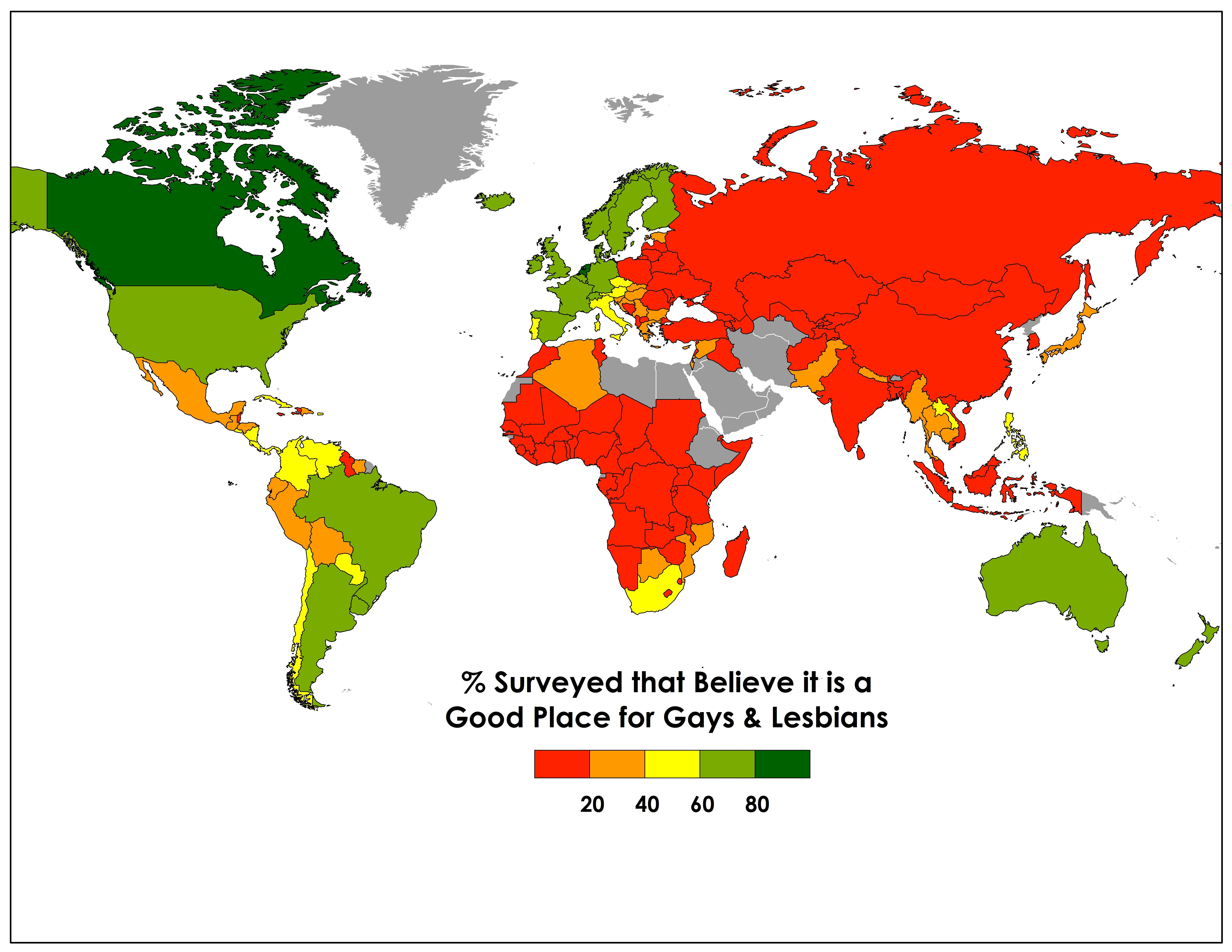 The Global Map Of Homophobia