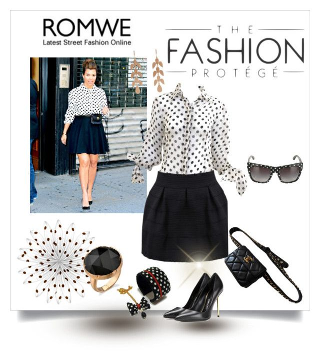 """""""Romwe / The Fashion Protege"""" by emperormpf ❤ liked on Polyvore featuring Karl Lagerfeld, Dolce&Gabbana, Irene Neuwirth and Tom Ford"""