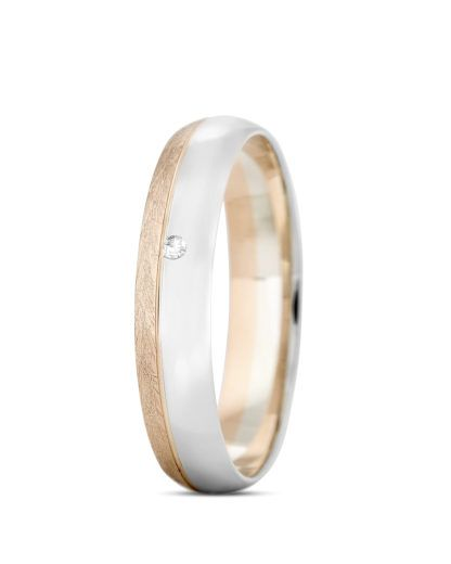 Ring aus 333 Bicolor Gold mit Diamant VALERIA Eheringe