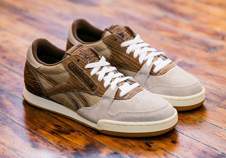"""ed54b366cc12 Japan s mita Sneakers teams up with Reebok Classic for the ongoing Year of  Court with this unique new """"wooden"""" edition of the Phase 1 Pro."""