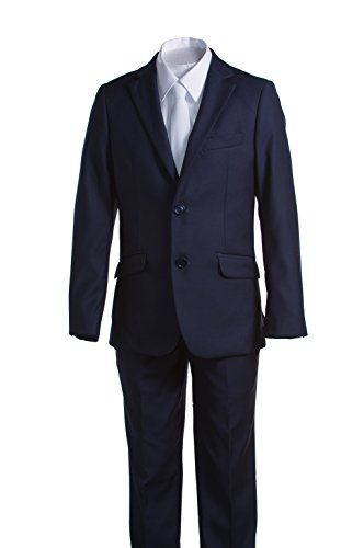 Slimmer Fit Boys White Communion Suit