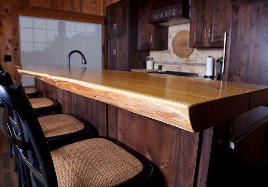 Incroyable Osage Orange Bar Top | Natural Edge Wood Slabs | David Stine Woodworking