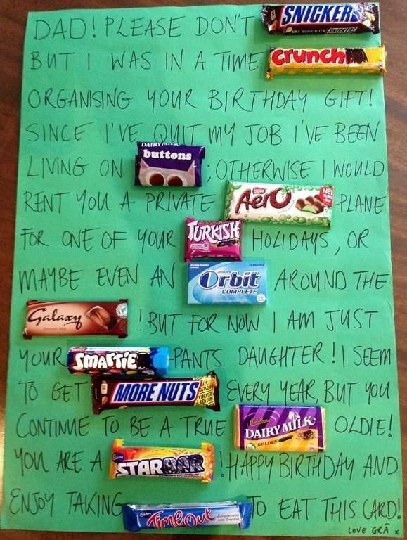 Candy Message To Dad CLEVER Omg So Cool For A Birthday Present