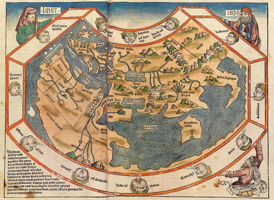 World map of Hartmann Schedel published in the Schedel s World