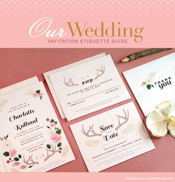 our wedding invitations etiquette guide provides tips for stationery