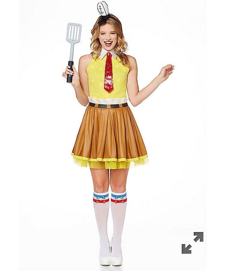 Adult Spongebob Dress Costume - Spongebob Squarepants  sc 1 st  Pinterest & Adult Spongebob Dress Costume - Spongebob Squarepants   Halloween ...
