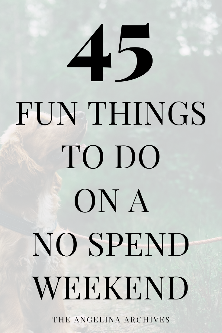 45 Things To Do On A No Spend Weekend to Save Money