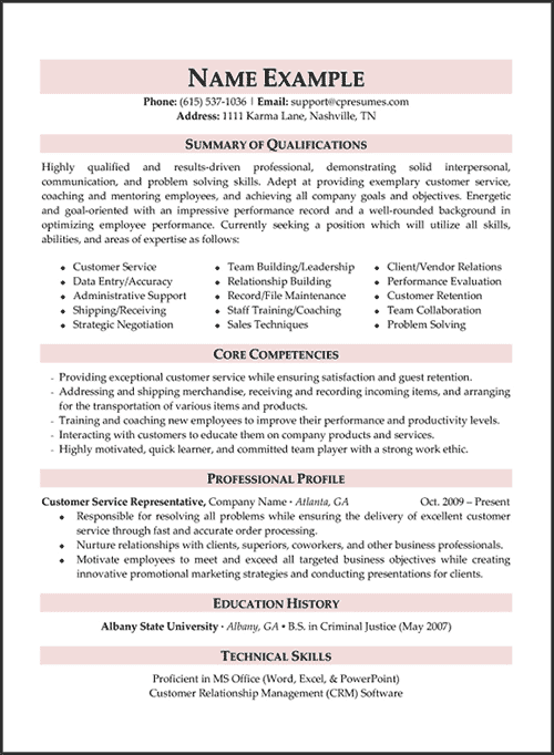 Resume Samples Types Of Resume Formats Examples Templates Resume Writing Services Professional Resume Writing Service Professional Resume Examples