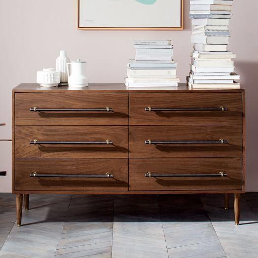 Benson 6 Drawer Dresser Dark Walnut Mission Home
