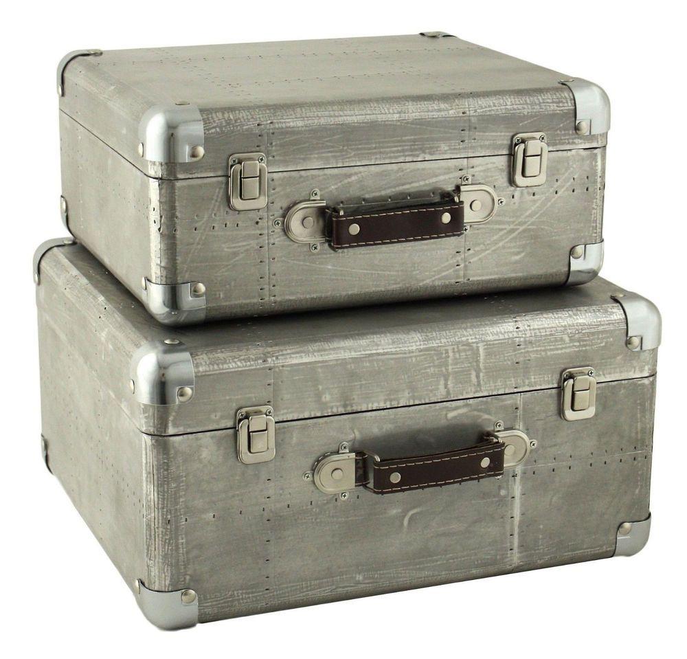 Decorative Luggage Box Storage Chest Trunk Decorative Wooden Vintage Steamer Suitcase
