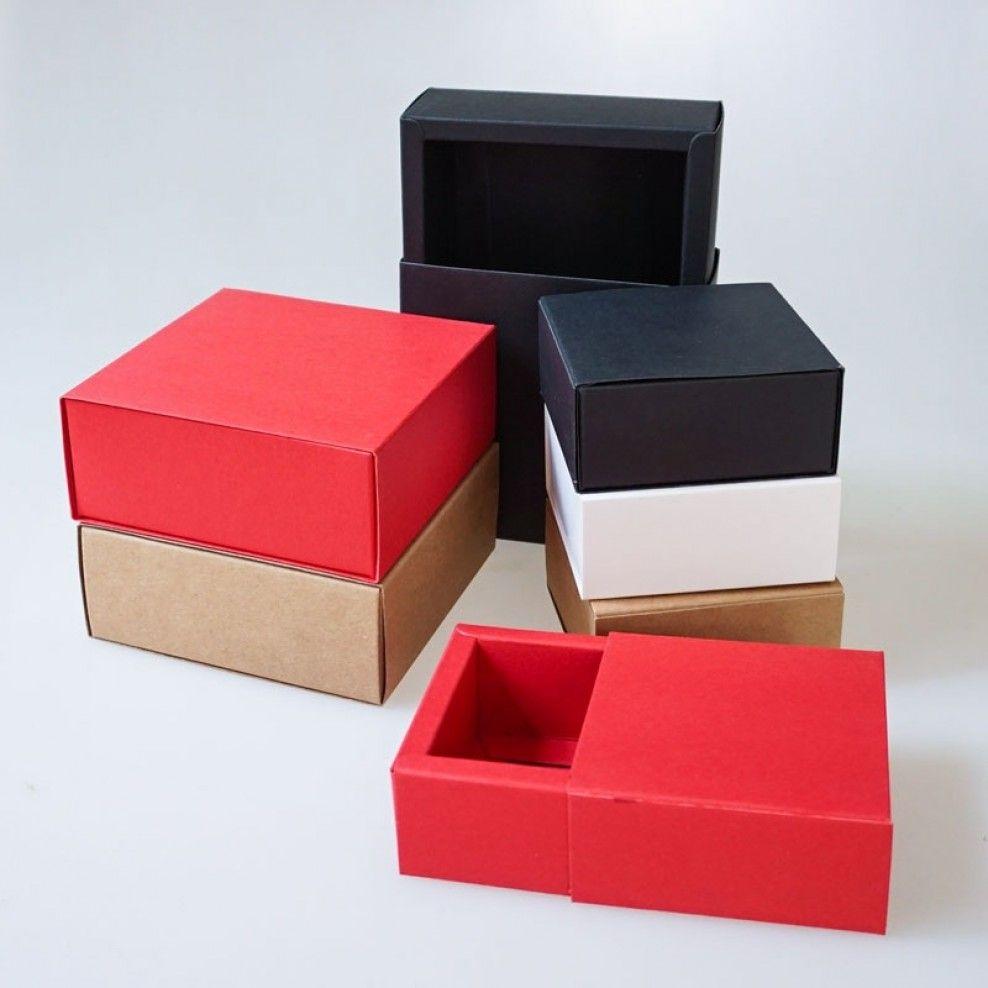 Drawer sleeve kraft paper folding packaging boxes box