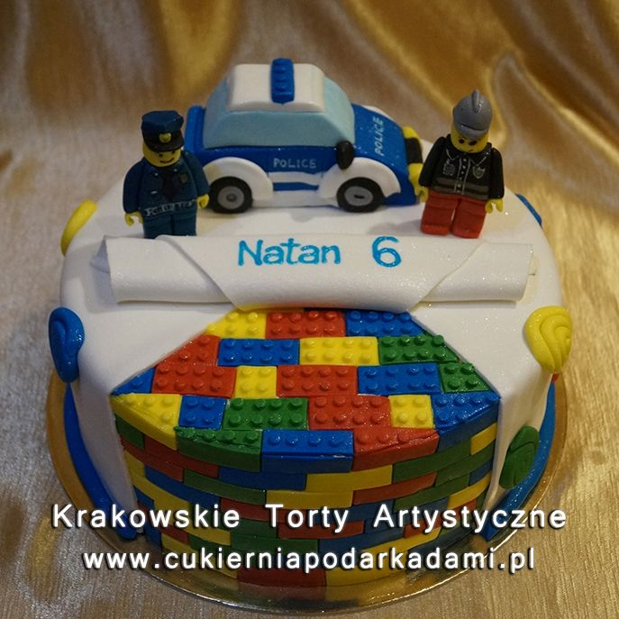 123 Tort Lego Policja Lego Police Cake Lego Birthday Cake Lego City Cakes Lego City Birthday