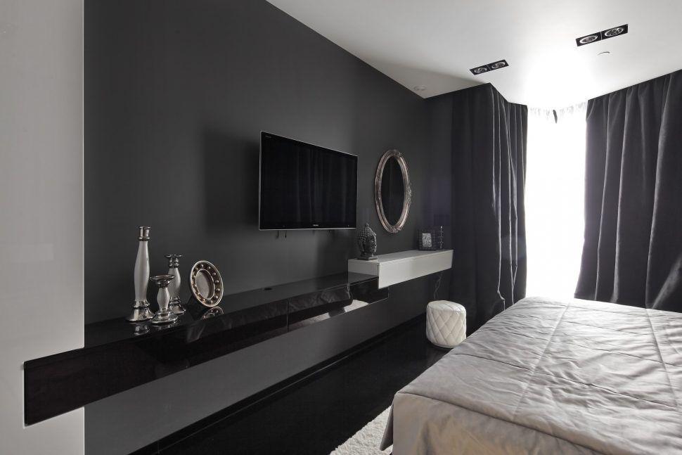 Bedroom Ideas Amazing Bedroom Paint Black White And Grey Bedroom Black Interior Design Black And White Wall Decor Bedroom Tv Wall Tv In Bedroom Bedroom Design