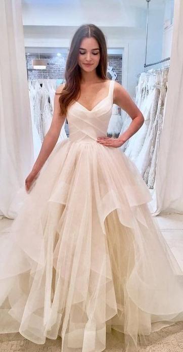 V-ausschnitt ballkleid brautkleid mode maßgeschneiderte brautkleid ydw0047 – Mode Kleider
