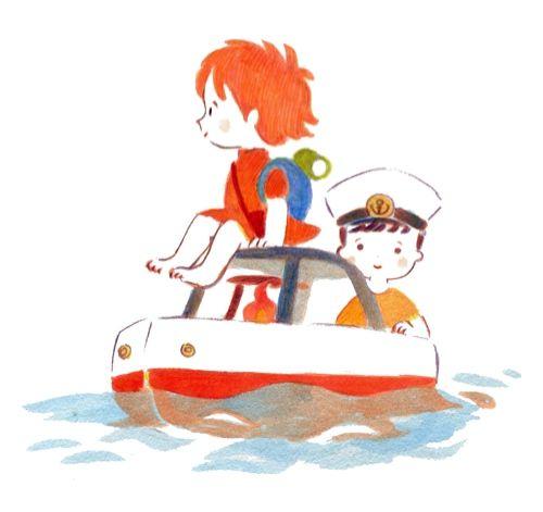 Memo テレビで 崖の上のポニョ を観ました ジブリ イラスト かわいい かわいいポスター アニメのキャラクターデザイン