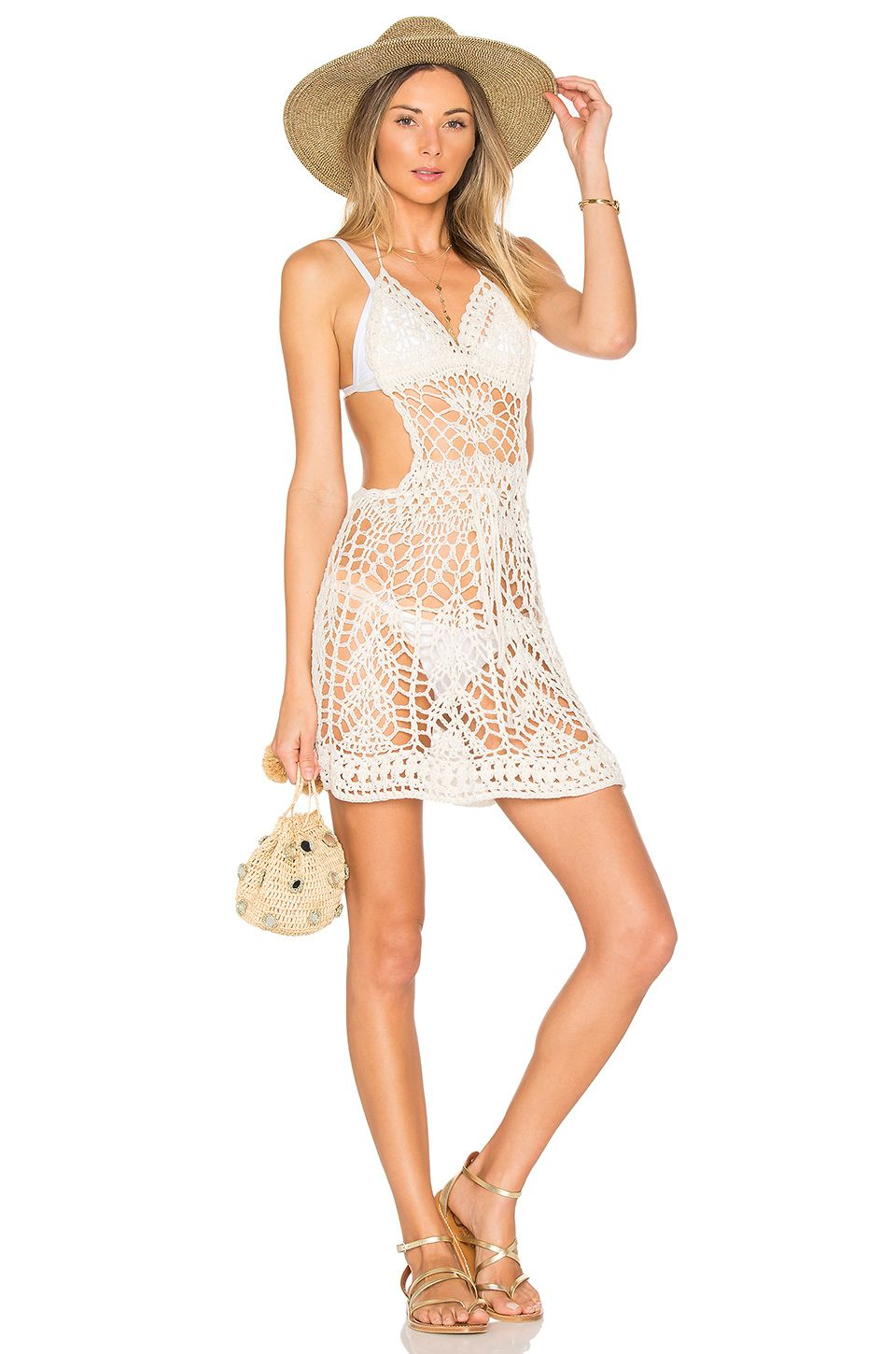 4f696afd7 Indah Poppy Mini Dress in Desert | REVOLVE | Crochet Bikini's ...