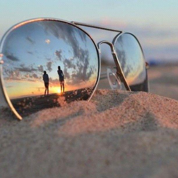 2bce953fb42e sun  glasses  sunglasses  aviators  sunset  summer  reflection  sand ...