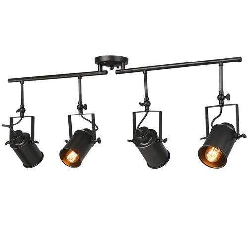 track lighting rails. LNC Black Split Rail 4 Spotlight Track Lighting Track Lighting Rails R
