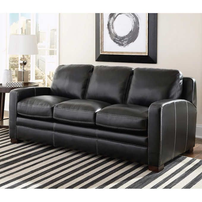 Dreamliner Top Grain Leather Queen Sleeper Sofa (Costco ...
