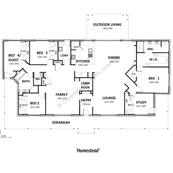 Homestead Floor Plan Small Google Search House Plans Australia House Plans House Floor Plans