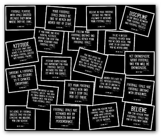 Football #Quotes Collage in Black and White for #Motivation   Fun ...