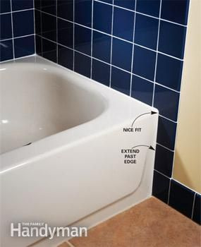 Extend Tile Beyond Tub Edge Tile Layout Tile Around Bathtub Bathroom Wall Tile