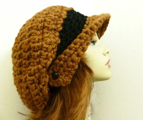 How Cute Is This Crochet Hat Pattern Pdf For Winged Brim Slouchy
