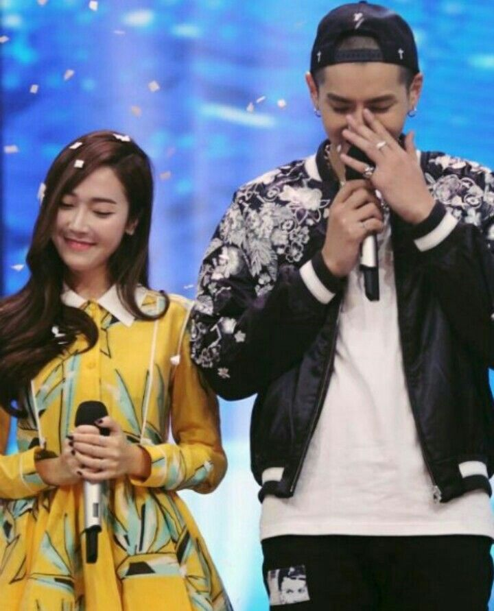 Jessica Jung with Wu Yi Fan (Kris) Filming a Variety Show in China