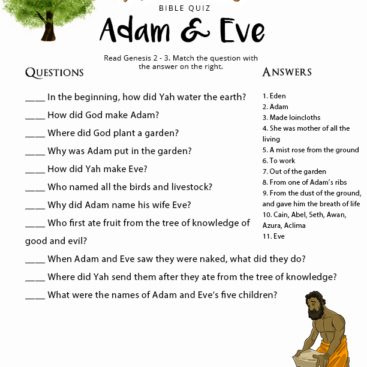 Fruit Of The Spirit Quiz Printable on a budget