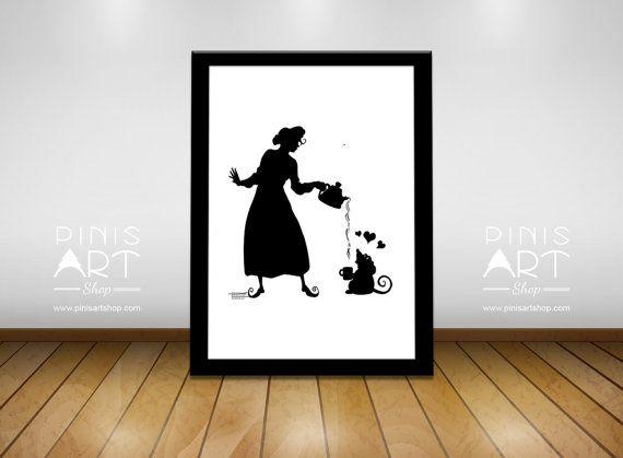 TEA Girl  - Hand made Art print -