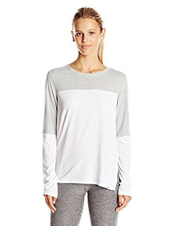66424203e Champion Women's Loose Fit Tee, White/Oxford Grey, Small at Amazon Women's  Clothing store: