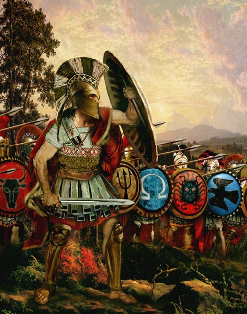 f3ff9c76c Spartan Warriors & Greek Hoplites; The Iliad Trojan Horse: Historical  Paintings and Pictures of Marathon, Thermopylae, the Trojan war and more by  David ...