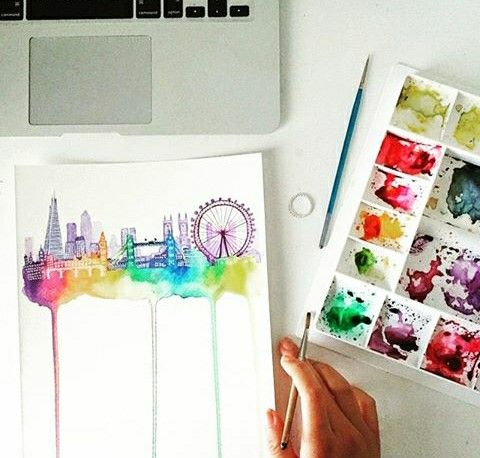 Drawing colorful London