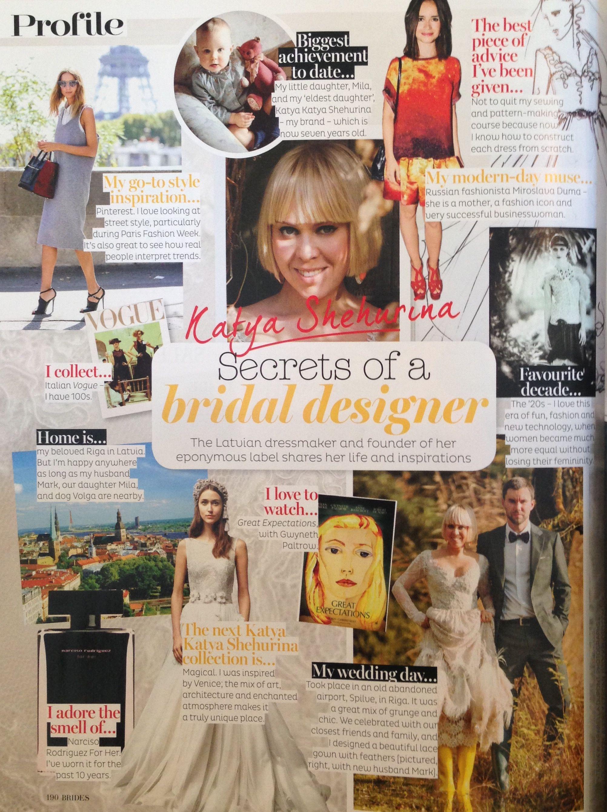 Designer profile of katya sehurina in brides magazine vintage