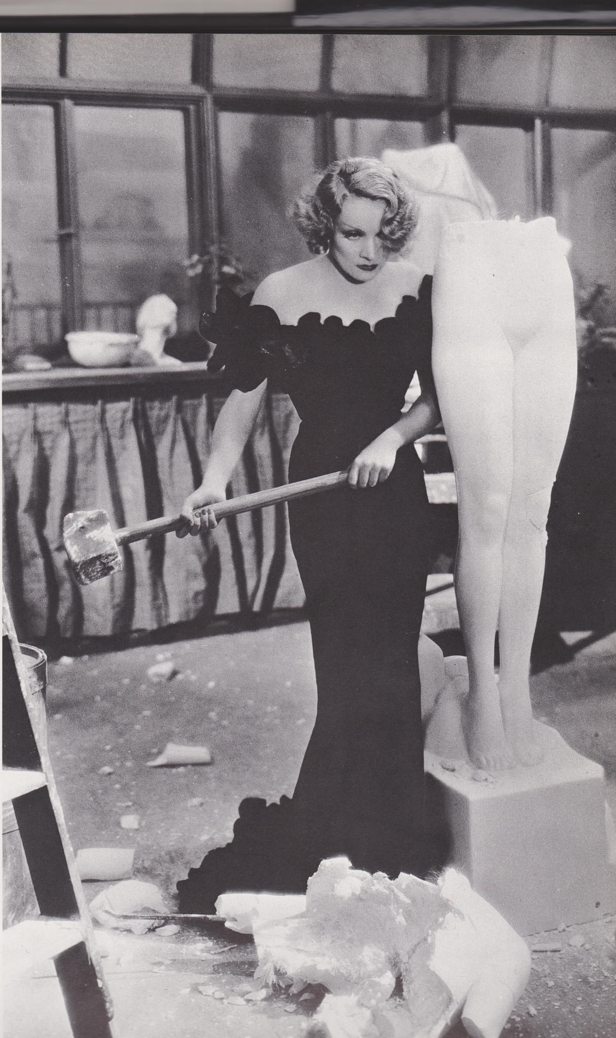 """Marlene Dietrich having a smashing time./ Should change the name of the board into """"WOMEN"""" for this"""