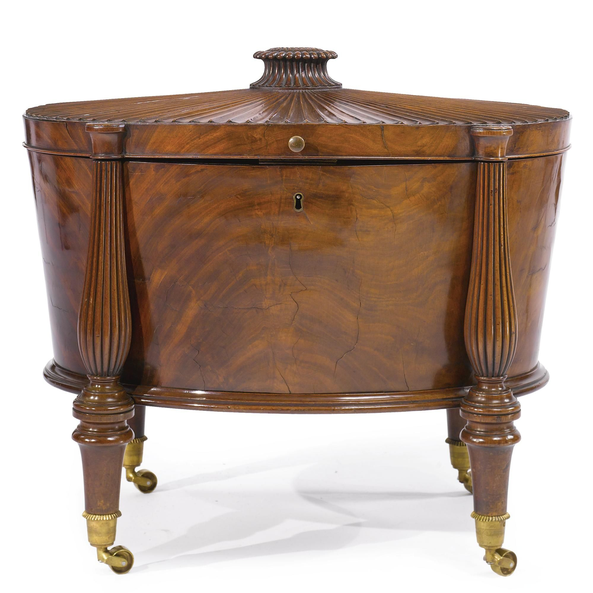 A Regency mahogany wine cooler in the manner of Gillows circa 1810
