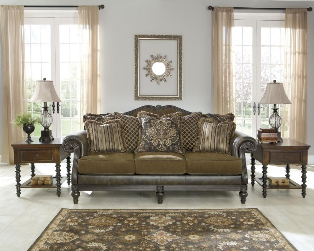 New traditional sofa loveseat set classics couch living room ...