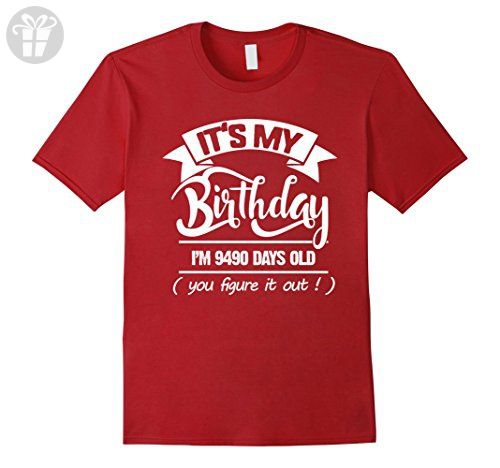 Mens 26th Birthday Gift Ideas Funny T Shirt For Men Women Small