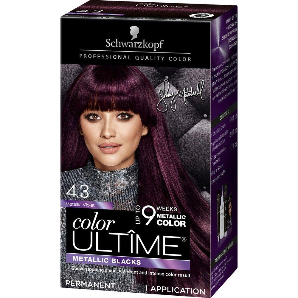 Schwarzkopf Color Ultime Metallic Violet Permanent Hair Color 5 7oz Schwarzkopf Hair Color Schwarzkopf Color Hair Color Cream