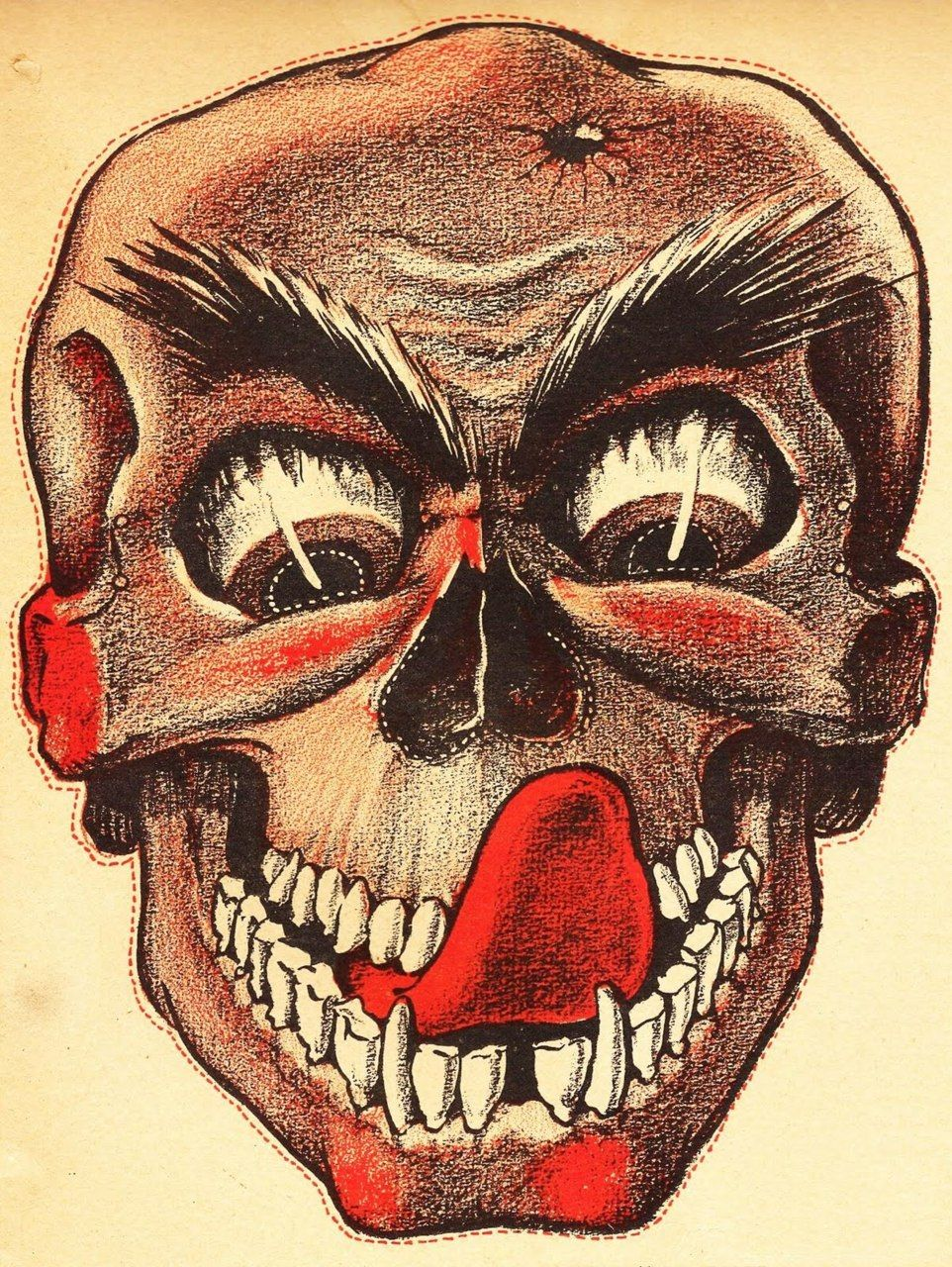 Halloween Mask from Weeny Witch Halloween Book c 1950s | Art ...