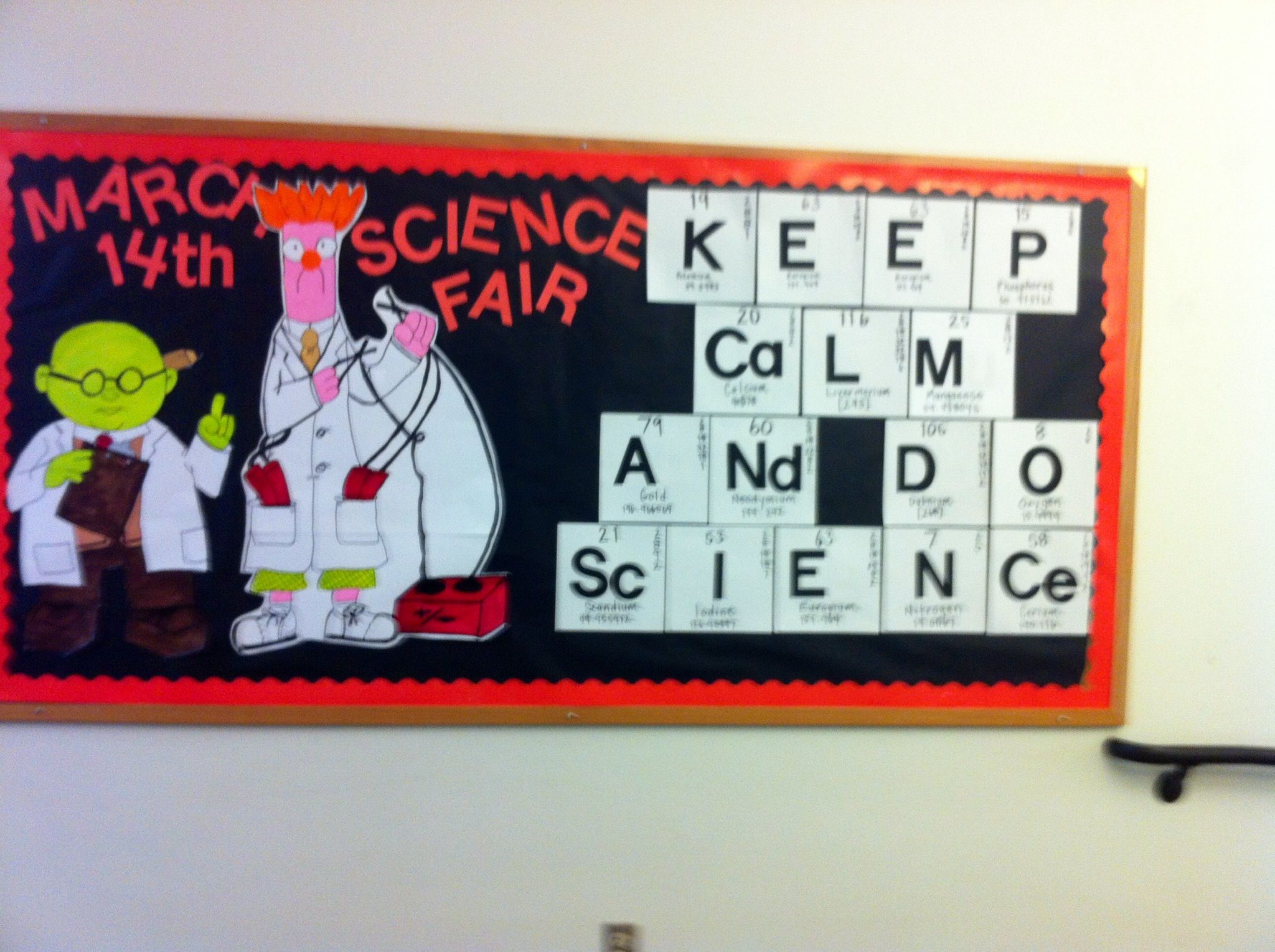 Physical Science Classroom Decorations ~ Muppets science bulletin board not bored