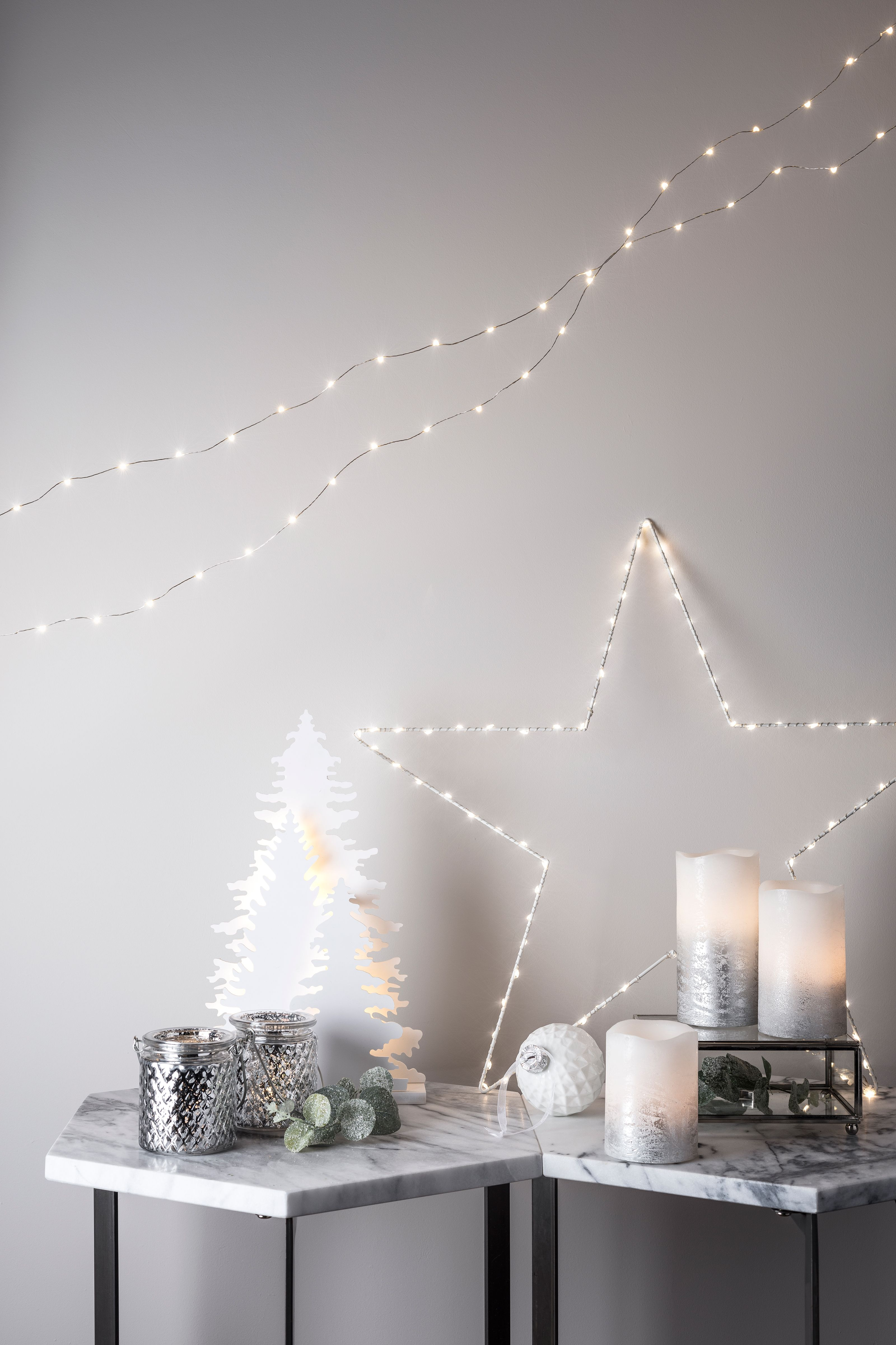 Create a magical white winter feel this Christmas with our silver