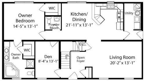 Kea By All American Homes Cape Cod Floorplan Floor Plans House Floor Plans Cabin Floor Plans