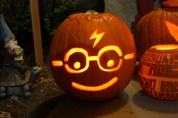 harry potter pumpkin face pumpkin carving ideas halloween decor rh pinterest com