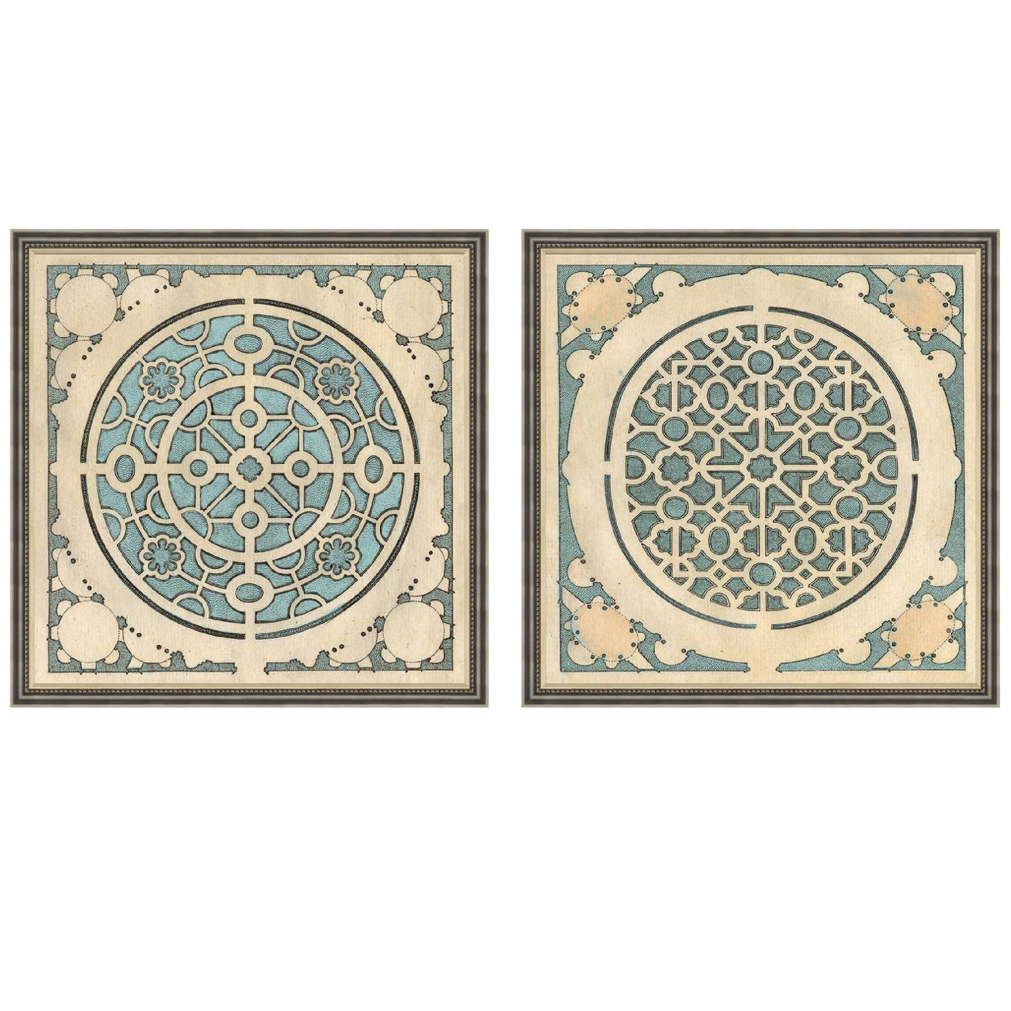 Large blue garden plans wall art set of garden planning ideas